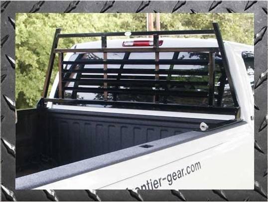 Frontier Gear - Frontier Gear 110-00-0002 Light Duty Headache Rack Chevy/GMC 1500/2500/3500HD Full Louvered (1988-2006)