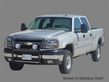 GO Industries - Go Industries 48735 Stainless Steel Grille Shield Grille Guard Chevrolet Silverado 1500  (2007-2011)