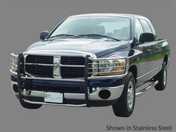 GO Industries - Go Industries 48667 Stainless Steel Grille Shield Grille Guard Dodge Ram 1500 2009-2013