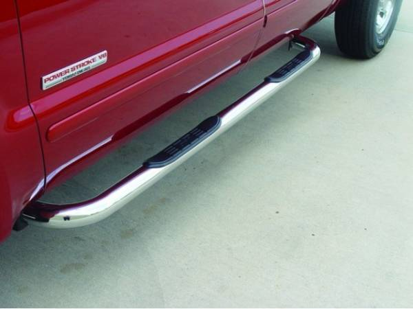 GO Industries - Go Industries 29739 Stainless Steel Cab Length Nerf Bars Ford F-350 Crew Cab (1999-2011)
