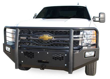 Luverne - Luverne 181112 Black Defender Series Front Bumper Chevy/GMC 2500HD/3500 2011-2013
