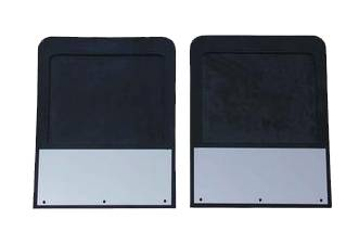 GO Industries - Go Industries 70764SET Stainless Steel Mud Flaps Dodge Ram 2500 Dually Truck (2003-2013)