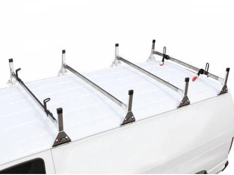 Vantech - Vantech H2224B Universal 1 Bar System Black Aluminum (63-66 Inch Wide) Drilling Required