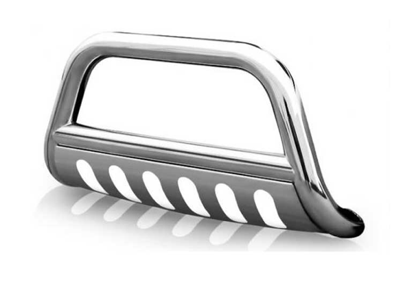 """Steelcraft - Steelcraft 76040 3"""" Bull Bar for (2008 - 2010) Mitsubishi Triton L200 Pick Up in Stainless Steel"""
