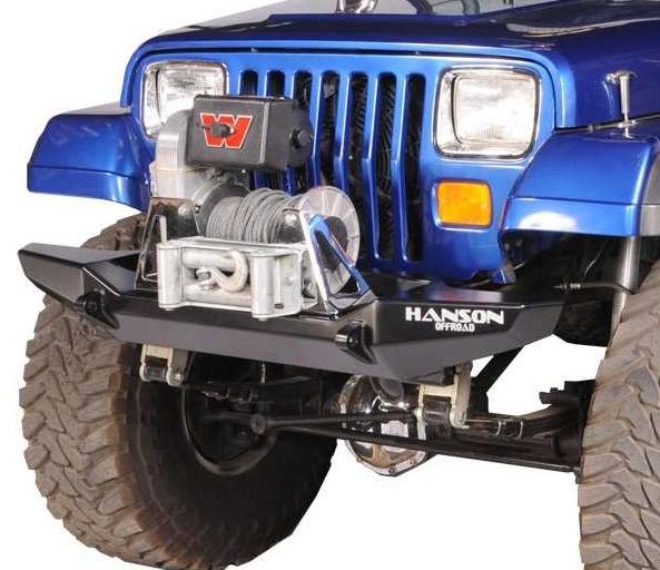 "Hanson Offroad - Hanson Offroad JR51102-P Jeep 52"" Basic Front Bumper"