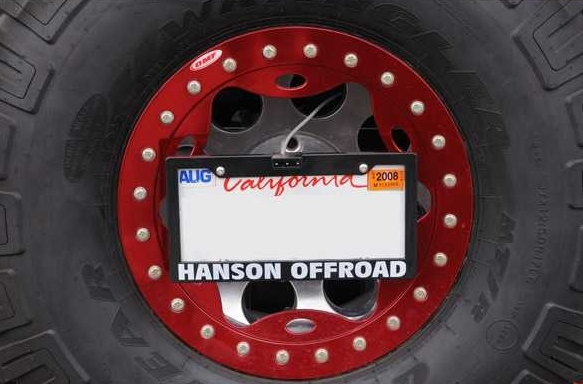Hanson Offroad - Hanson Offroad LPR License Plate Relocator with LED