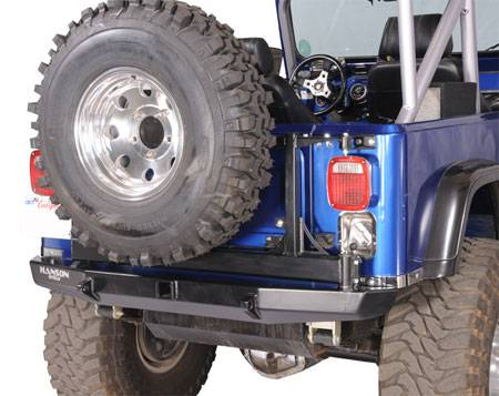 Hanson Offroad - Hanson Offroad JRR4102-P Jeep Spindle Rear Bumper