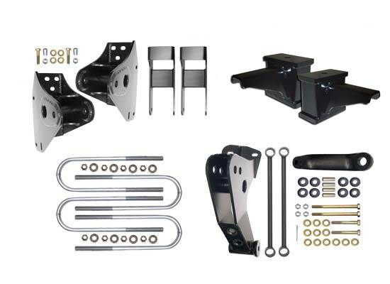 Icon Vehicle Dynamics - Icon 34000 Ford Super Duty 4.5in Hanger Kit with Bash Bar