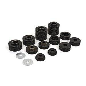 Daystar - Daystar KC04002BK Body Mounts 20 Pcs 6 Sleeves 12 Washers 1972-1993 Dodge Ramcharger 2WD & 4WD