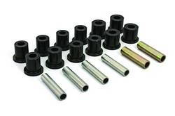Daystar - Daystar KF02032BK Spring Shackle Bushings Rear With 3 Bushing Shackle 1968-1972 Ford F250 2WD