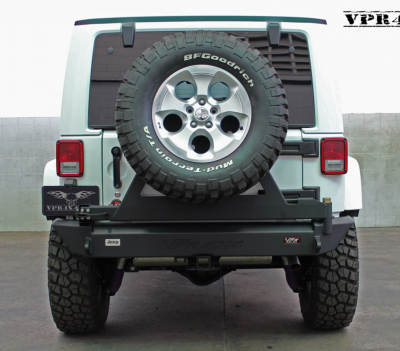MDF Exterior Accessories - Bumpers - VPR 4x4 - VPR 4x4 VPR-123-C Rear Bumper with Tire Carrier Jeep JK 2007-2015