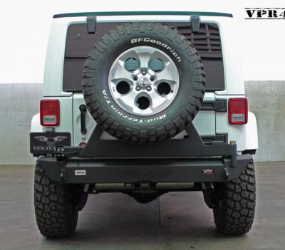 VPR 4x4 Bumpers - Jeep - VPR 4x4 - VPR 4x4 VPR-123-C Rear Bumper with Tire Carrier Jeep JK 2007-2015