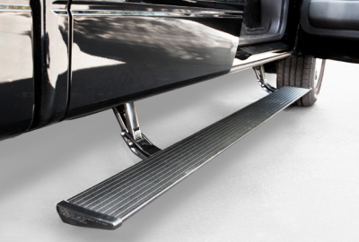 AMP Research PowerStep Running Boards - GMC PowerStep Running Boards - AMP Research - AMP Research 76147-01A PowerStep with Light Kit by Bestop GMC Sierra Crew/EXT Cab Diesel 2015-2016