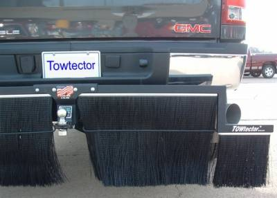 "Mud Flaps for Trucks - Towtector Brush System - Towtector - Towtector 29619-DM Premium Towtector Chevy Duramax Diesel 96"" x 18"" Dually with 2.5"" Receiver"