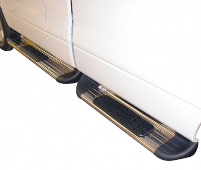 Side Entry Steps - Ford - Luverne - Luverne 480829 Stainless Steel Running Boards Ford F250/F350 Long Box Extension 8.5' Bed 1999-2015