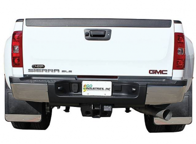 GO Industries - Chevy Truck Stainless Steel Mud Flaps - GO Industries - Go Industries S70736SET Dually Mud Flaps Chevy Silverado 3500 2011-2019