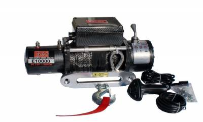 Winches - Engo Winches - ENGO Winch - ENGO 77-10000PFS EPF10000S 10K Premium Finish Winch with Synthetic Rope