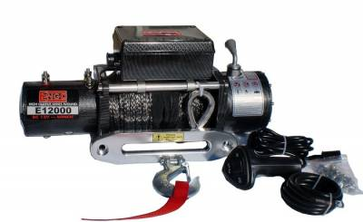 Winches - Engo Winches - ENGO Winch - ENGO 77-12000PFS EPF12000S 12K Premium Finish Winch with Synthetic Rope