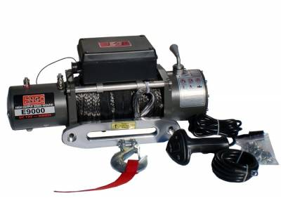 MDF Exterior Accessories - Winches - ENGO Winch - ENGO 77-09000S E9000S 9K Winch with Synthetic Rope