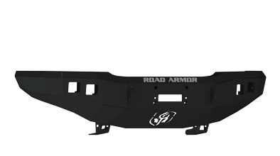 Bumpers - Road Armor Bumpers - Road Armor - Road Armor 33700B Front Stealth Winch Bumper with Square Light Holes Chevy Silverado 2500HD/3500 2003-2006