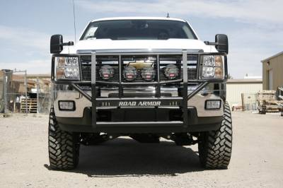 Bumpers - Road Armor Bumpers - Road Armor - Road Armor 380BRSH Brush Guard Chevy 2500HD/3500 2011-2014