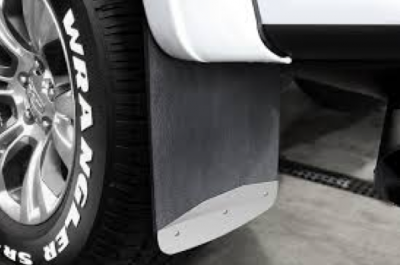 "Luverne Rubber Textured Mud Flaps - Chevy/GMC - Luverne - Luverne 251544 Dually Mud Flaps GMC Sierra Dually 3500 2015-2016 20"" x 23"" Rear"
