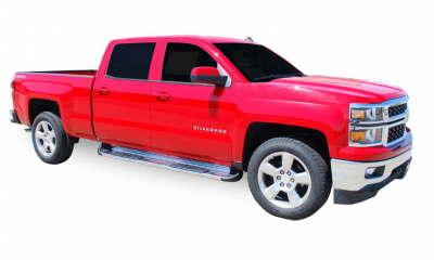 Side Entry Steps - Chevy - Luverne - Luverne 480743/581443 Stainless Steel Running Boards Chevy/GMC 1500 Crew Cab 2014-2015