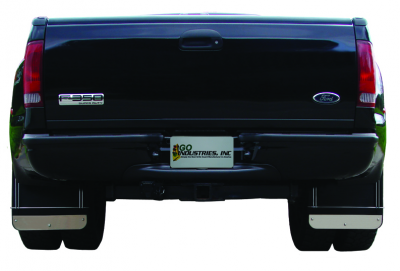 Go Industries Dually Mud Flaps - Ford Truck Mud Flaps - GO Industries - Go Industries S70731SET Dually Mud Flaps Ford F350 2011-2016