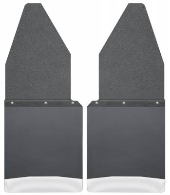 """Mud Flap - Mud Flap - Husky Liners - Husky Liners 17104 Kick Back Mud Flaps 12"""" Wide - Black Top and Stainless Steel Weight"""