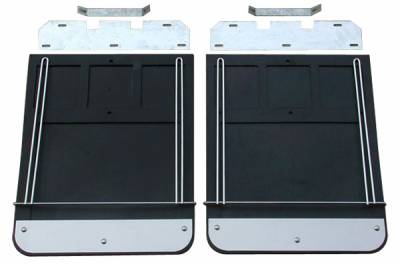 Ford F350 Super Duty - Ford Superduty 2011-2016 - GO Industries - Go Industries 70731SET Dually Mud Flaps Ford F250/F350 2011-2016
