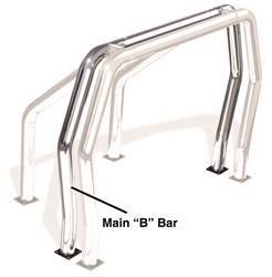 Exterior Lighting - Light Bar - Go Rhino - Go Rhino 91002C Rhino Bed Bars Rear Main B Bar