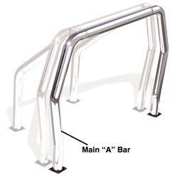 Exterior Lighting - Light Bar - Go Rhino - Go Rhino 91001PS Rhino Bed Bars Front Main A Bar