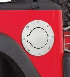 Fuel Filler Door - Fuel Filler Door Cover - Smittybilt - Smittybilt 75000 Billet Style Gas Cover