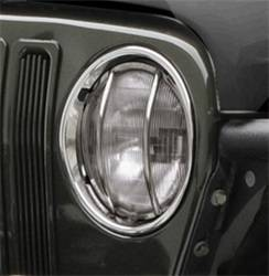 Head Lights and Components - Head Light Guard - Smittybilt - Smittybilt 5460 Euro Headlight Guard