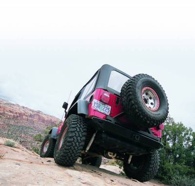 Bumper - Bumper- Rear - Warn - Warn 61860 Rock Crawler Rear Bumper