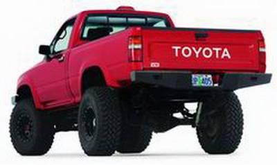 Bumper - Bumper- Rear - Warn - Warn 68490 Rock Crawler Rear Bumper Toyota Pickup 1989-1995