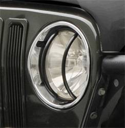 Head Lights and Components - Head Light Guard - Smittybilt - Smittybilt 5692 Euro Headlight Guard