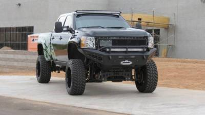Addictive Desert Designs - ADD F297315000103 Non-Winch Honey Badger Front Bumper Chevy 2500/3500 2011-2014 - Image 2