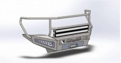 Addictive Desert Designs - ADD F317335010103 Honey Badger Rancher Front Bumper Chevy 2500 2007-2010 - Image 1