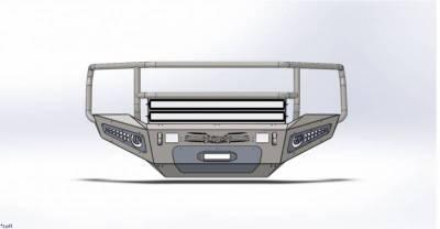 Addictive Desert Designs - ADD F317375010103 Honey Badger Rancher Front Bumper Chevy 2500 2007-2010 - Image 1