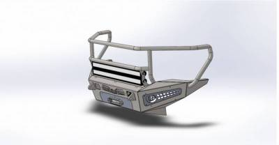 Addictive Desert Designs - ADD F317375010103 Honey Badger Rancher Front Bumper Chevy 2500 2007-2010 - Image 3