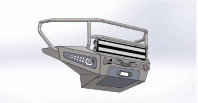 Addictive Desert Designs - ADD F317375010103 Honey Badger Rancher Front Bumper Chevy 2500 2007-2010 - Image 4