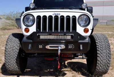 Addictive Desert Designs - ADD F951241380103 Stealth Fighter Front Bumper Jeep Wrangler JK 2007-2017 - Image 4