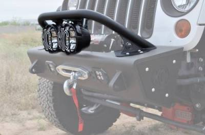 "Addictive Desert Designs - ADD F9513010101NA Top Hoop for 6"" Lights Jeep Wrangler JK 2007-2017 - Image 1"