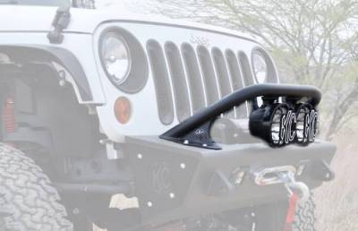 "Addictive Desert Designs - ADD F9513010101NA Top Hoop for 6"" Lights Jeep Wrangler JK 2007-2017 - Image 3"