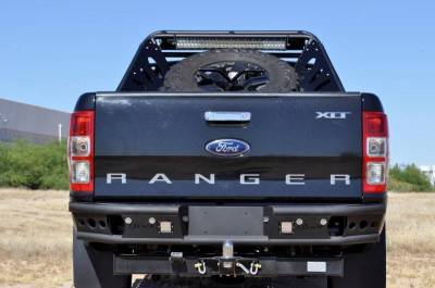 "Addictive Desert Designs - ADD R252291280103 Dimple ""R"" Rear Bumper Ford Ranger T6 2011-2013 - Image 1"