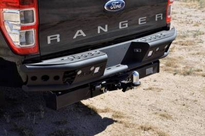 "Addictive Desert Designs - ADD R252291280103 Dimple ""R"" Rear Bumper Ford Ranger T6 2011-2013 - Image 3"