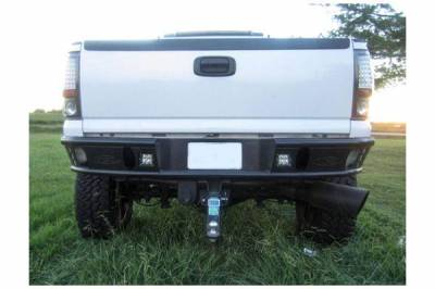 "Addictive Desert Designs - ADD R3323012801NA Dimple ""R"" Rear Bumper Chevy Silverado 2500/3500 1999-2007 - Image 1"