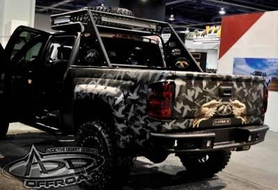 "Addictive Desert Designs - ADD R4223012801NA Dimple ""R"" Rear Bumper GMC Sierra 1500 2014-2015 - Image 1"