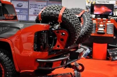 "Addictive Desert Designs - ADD R4223012801NA Dimple ""R"" Rear Bumper GMC Sierra 1500 2014-2015 - Image 6"